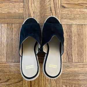 Johnston and Murphy Black Wedges